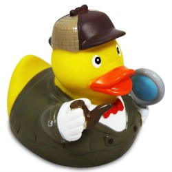 Rubber duck dressed as a detective
